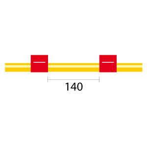 Contour Flared End Solva Flex Pump Tube 2tag 1.14mm ID Red/Red (PKT 6)